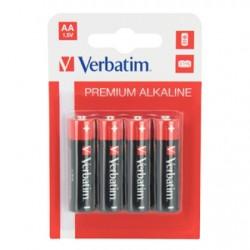 Батарейка алкалиновая Verbatim AA/LR6 4шт/упак