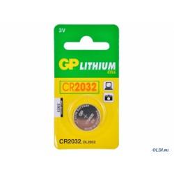 Батарейка CR2032 GP блистер 1 шт