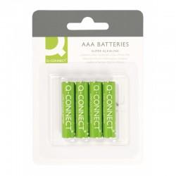 Батарейка алкалиновая Q-connect AAA/LR03 4шт/упак