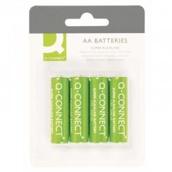 Батарейка алкалиновая Q-connect AA/LR06 4шт/упак