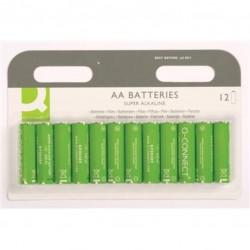 Батарейка алкалиновая Q-connect AA/LR06 12шт/упак