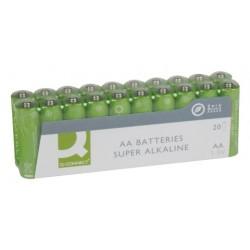 Батарейка алкалиновая Q-connect AA/LR06 20шт/упак