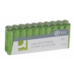Батарейка алкалиновая Q-connect AAA/LR03 20шт/упак