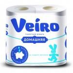 Бумага туалетная Veiro Домашняя 2 слойная, 4шт/уп
