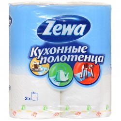 Бумажные полотенца Zewa 2-х слойные