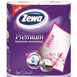 Бумажные полотенца Zewa Premium Decor 2-х слойные