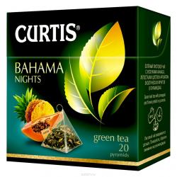 """Чай зеленый """"Curtis"""" Bahama Nights в пирамидках 20 пак"""