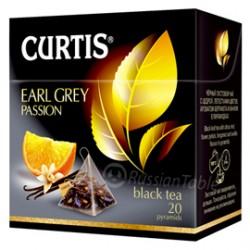 """Чай черный """"Curtis"""" Earl Grey Passion в пирамидках 20 пак"""