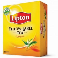 """Чай черный """"Lipton"""" Yellow label 100 пакетиков"""