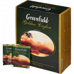"""Чай черный """"Greenfield"""" Golden Ceylon 100 пак"""
