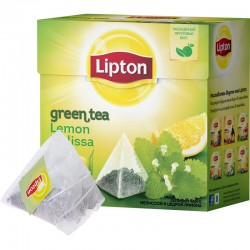 "Чай зеленый ""Lipton"" Green Tea Melissa 20 пак"