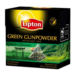 "Чай зеленый ""Lipton"" Green Gunpowder 20 пак"