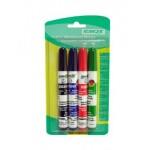 Набор маркеров для досок ВМ240, набор 4шт., чер., син., крас., зел. STANGER