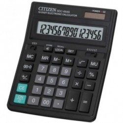 Калькулятор Citizen SDC 664S 16 разр., двойное питание