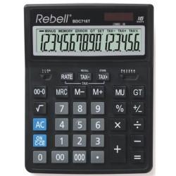 Калькулятор Rebell BDC 716T 16 разр., двойное питание