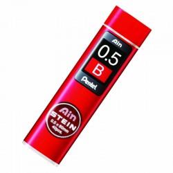 """Грифели для автоматического карандаша """"AinSTEIN"""" (супер прочные) 0,5мм, B, 40шт/уп"""