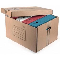 Бокс архивный из гофрокартона Kris, корешок 265 мм, 460×365×265 мм, внутри 5 коробок, бурый