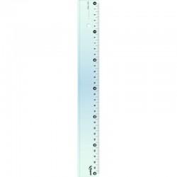 Линейка 30 см прозрачная Кристалл