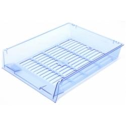 Лоток горизонтальный «Престиж» прозрачный синий