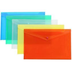 Папка-конверт на кнопке А4 ассорти