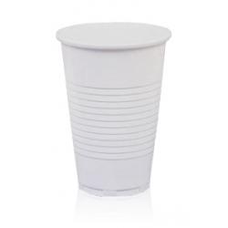 Стакан пластиковый белый  200мл 100шт/уп