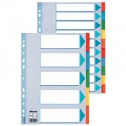 Разделитель А4 1-12 бумажный цветной