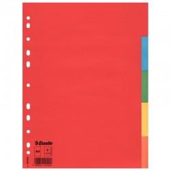 Разделитель А4 1-5 бумажный цветной