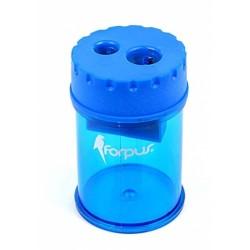 Точилка пластиковая 2 отверстия с контейнером Forpus