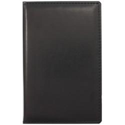 Визитница «Бизнес», 130×205 мм, 3 кармана, 12 листов, черная