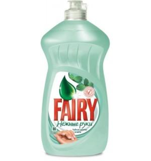 Средство для мытья посуды Fairy 450 мл чайное дерево и мята
